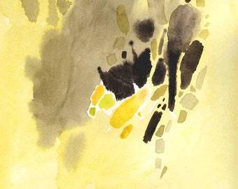 Original abstract watercolor 11X11 square fine art, watercolors, painting, watercolor paintings, original artwork, original art, home decor