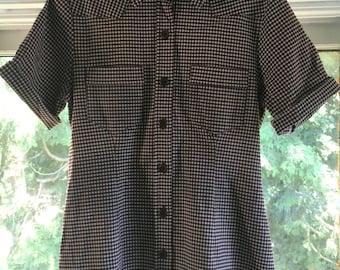 90s Plaid Button Up Shirt