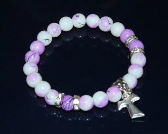 Tau Cross Bracelet
