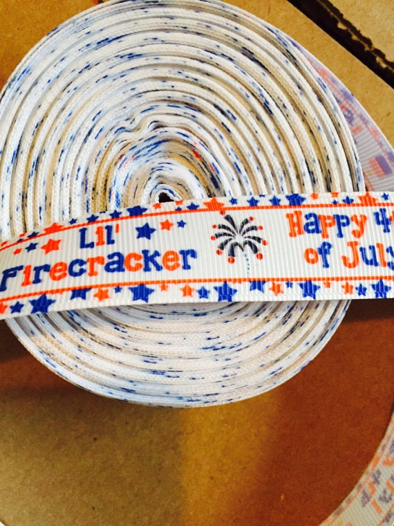 Basket Making Supplies New York : Lil firecracker ribbon grosgrain th of july