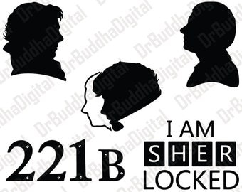 Sherlock SVG Collection - Sherlock DXF - Sherlock Clipart - Svg Files for Silhouette Cameo or Cricut