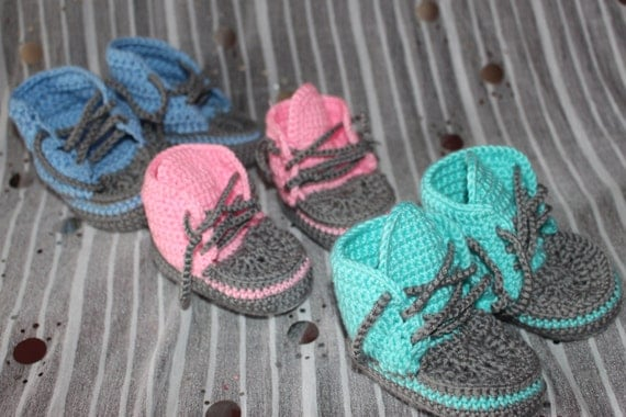 Crochet baby sneakers/ baby trainers/ Boys Gilrs Boots/ baby