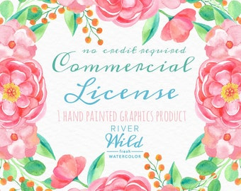Limited Commercial License NO Credit required for One Single product