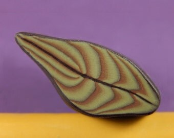 Leaf Polymer Clay Cane - Raw/ Unbaked (40-15) - For covering pens, eggs, bowls, jewelry and more!
