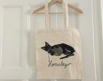 Homestayer Pocket tote bag cat