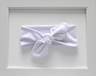 White Knotted Headband/Knotted Headband/Infant Headband/Toddler Headband/Baby Headband/Baby Shower Gift
