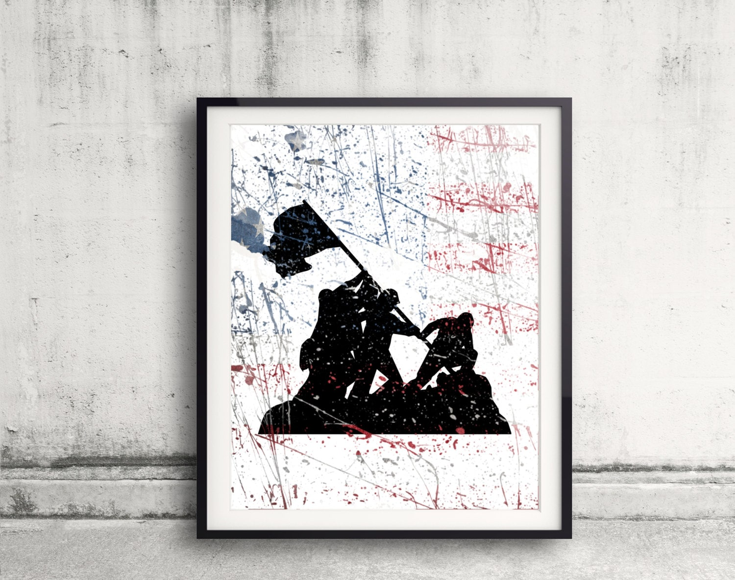 Soldier Art Print Military Tribute First Responder