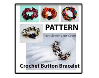 Crochet Button Bracelet Pattern