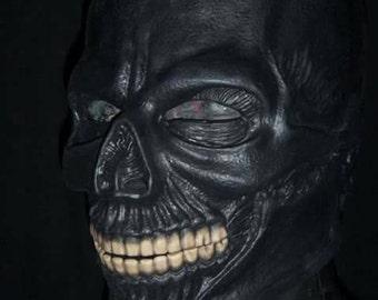 Black Mask/Bonez Silicone 3/4 Mask by Slabworx. (2-3 week turn around)