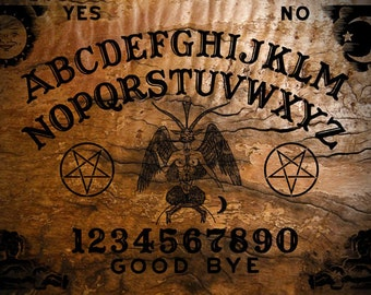Ouija Board with Planchette - Classic Burnt by OccultBoards.com