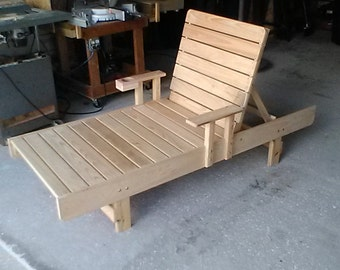 Handmade Cypress Chaise Lounge