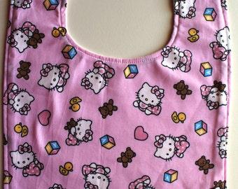 Hellow Kitty Light Pink Toddler Bib