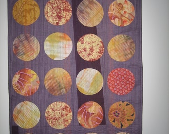 Textile art, fibre art, quilted wall hanging, home decor, modern, 12345