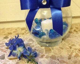 Royal Blue Wedding Centerpiece
