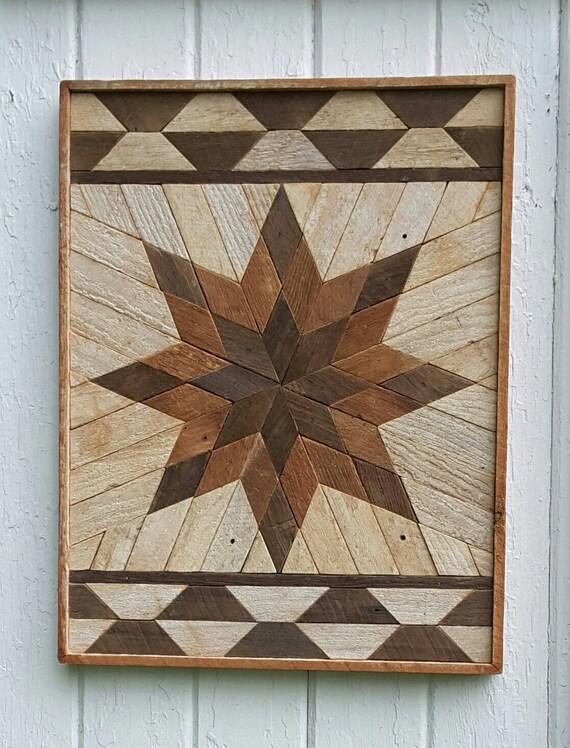 Reclaimed Wood Wall Art Wall Decor Lath Art Dark Star Santa