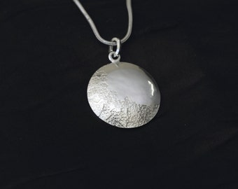 Silver Domed Snowflake Pendant