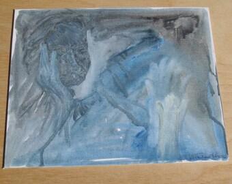 "Original Acrylic Painting ""Longing"""