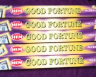 HEM Good Fortune Incense 5 Boxes 40 Incense Sticks