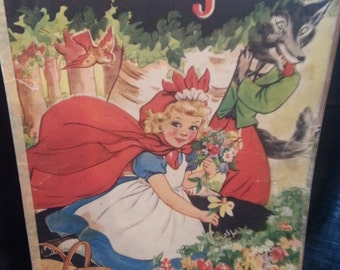 Little Red Riding Hood Vintage Book-1939
