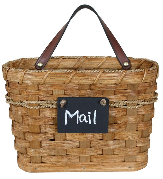 Next Woven Basket : Large hanging mail basket amish hand woven baskets