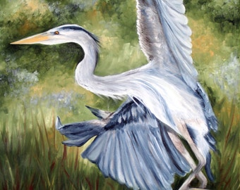 Heron in Flight - Original