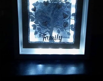 Light up box frame personalised family tree