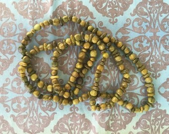 Handcrafted hippie necklace seed