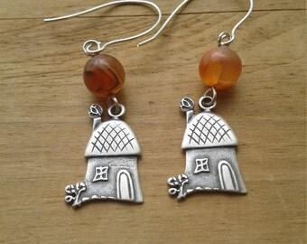 Tiny house earrings