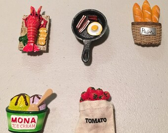 3D Magnet (Lobster, Bacon&Egg, French Bread, Ice Cream, Tomato)