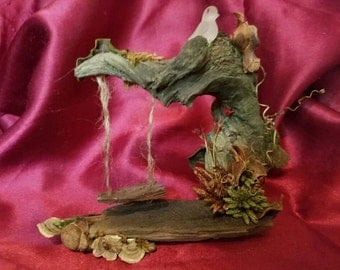 Enchanting faerie miniature swing