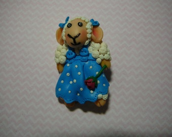 sheep clay brooch Free Shipping