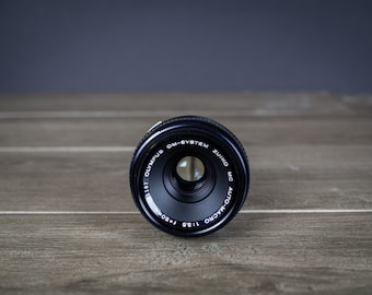 Olympus 50mm f3.5 macro lens for OM film cameras