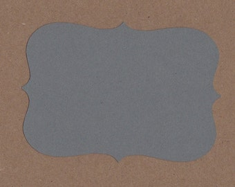 Gray Kraft Top Note Die Cuts for Paper Crafts - Invitations - Cards - Scrapbooking