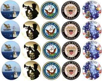 U.S. Navy  Edible Images Cupcake, Cookie Toppers