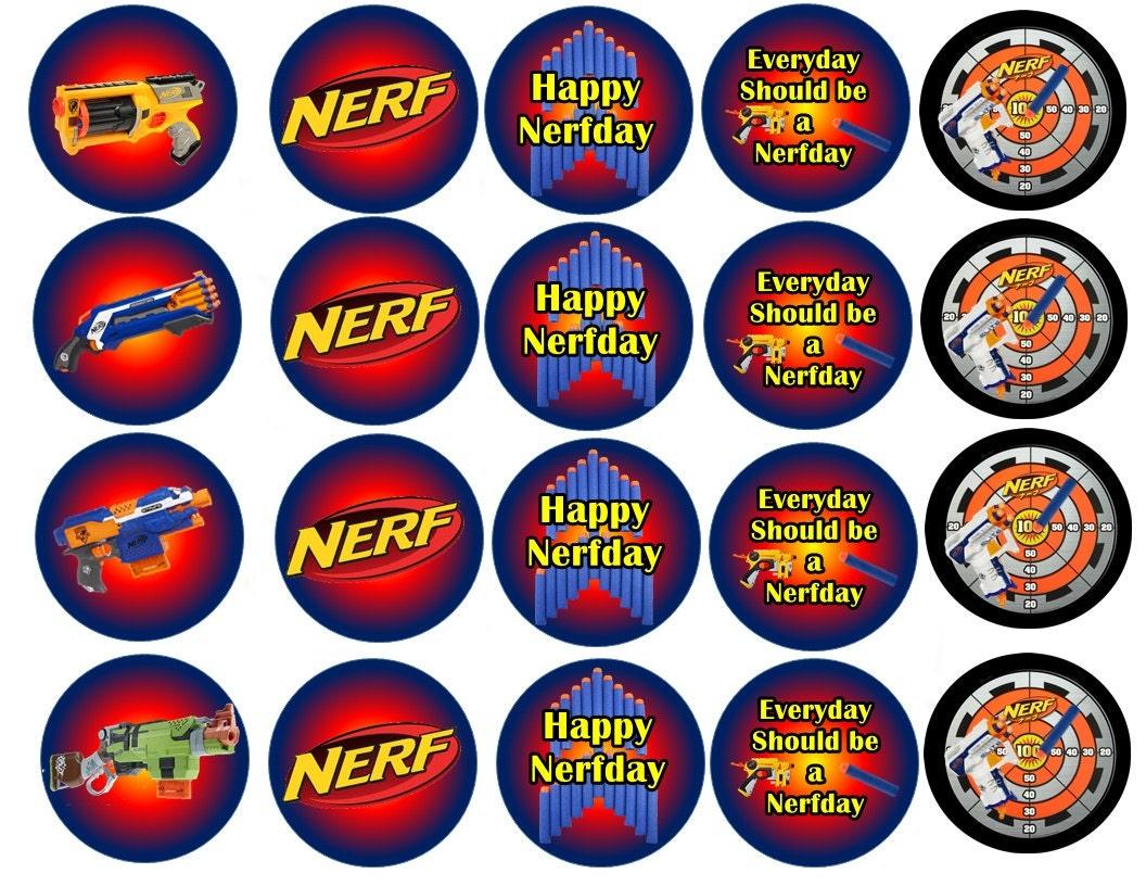 Nerf Gun Cake Toppers