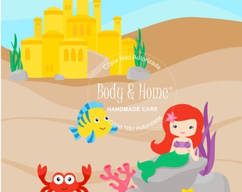 The Little Mermaid Digital Clipart Clip Art
