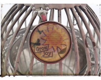 Grow Joy - Vintage Pendant Necklace