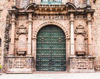 Peru Photography, Travel Photography, Cuzco, Peru, Church Door, Old Door Photos, Photo Prints