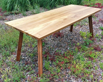 Table, dining table, Elm, solid wood