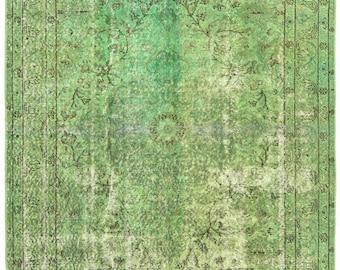 green living room rug. 4 10 x7 11  Green rug Interesting Pattern Rug Carpet area Etsy