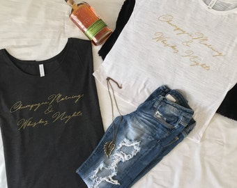 """Women's Slouchy Tee """"Champagne Mornings"""""""