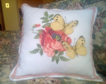 Cushion with butterflies
