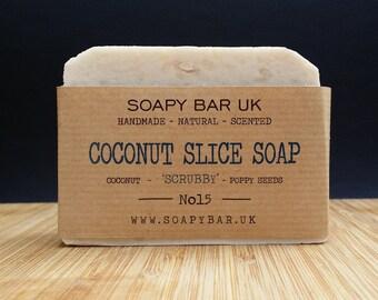 Coconut Slice Natural Handmade Soap - Scrubby