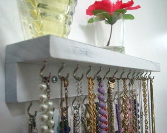 Necklace Hanger,  Organize with Fashion, Necklace Organizer with Class, Select Wood
