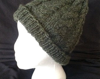 Cable Knit Tweed Hat