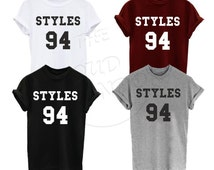 Styles 94 Harry Styles one direction 1D Music Rock Band Boys Varsity tumblr Unisex Tshirt
