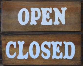 Open Closed - White Letters- business - shop