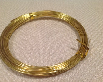 18g Aluminum Craft Wire approx 32.5 ft. Gold