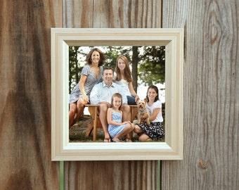 """Silver leaf Brushed Antique 1"""" Picture Frame. Sizes 3x5,4x6,5x5,5x7,8x8,8x10,9x12,10x10,11x14,12x12,12x16,14x18,16x20 call for custom size"""
