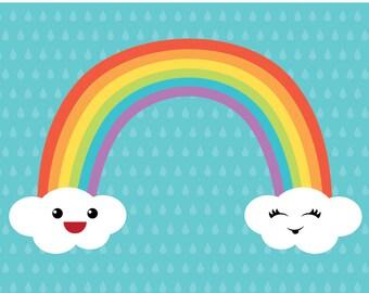 Nursery Art: Rainbow Print